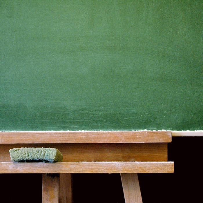 A school chalkboard