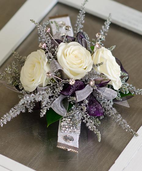 Lavender Frost Corsage