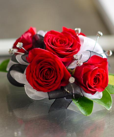 Red Romance Corsage